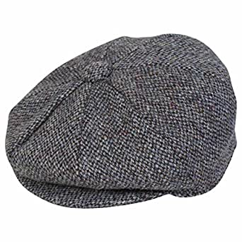 b2af4f57da9 Harris Tweed Mens Baker Boy Cap - Handwoven Tweed from Scotland ...