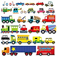 Decowall 27 Transports Kids Wall Stickers Wall Decals (1205/1605 / 8004)