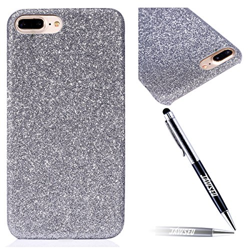 iPhone 7 Plus Custodia, iPhone 7 Plus Cover, JAWSEU Apple iPhone 7 Plus 4.7 Plus Protezione Bumper Brillantini Della Glitter Sparkle Bling Bling Custodia per Apple iPhone 7 Plus Cover Case Caso Gomma Bling Argento