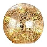 Gilde Glaskugel mit LED-Beleuchtung, Ø 14 cm, Gold