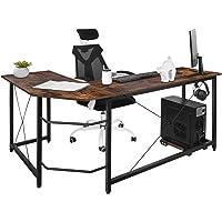 Dawoo L-förmiger Schreibtisch, Gaming-Computer-Eckschreibtisch PC Studio Table Workstation für das Home Office, 140 cm…