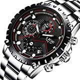 Best Men Watches - Mens Stainless Steel Black Classic Luxury Casual Watches Review