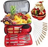 24PC in acciaio INOX barbecue Tool set con 15can Water Proof Insulated lunch Cooler bag–Outdoor barbecue accessori kit set per campeggio e portellone posteriore–Gift Box Package for Men Dad