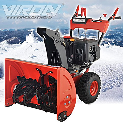 Benzin Schneefräse 13 PS Elektrostarter Schneeschieber Motorbesen Schneepflug - 6