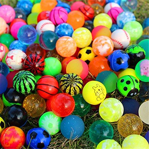 bonytain 20Stück/Set gemischt Bouncing Balls Kinder Gummi Spielzeug für Kinder im Bad Toys Sport Spiele Elastic Jumping Antistress Bälle