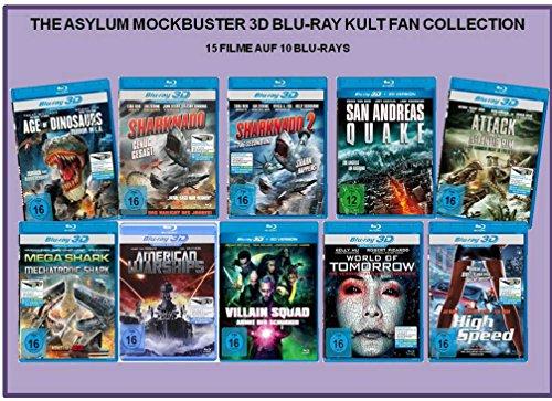 The Asylum Mockbuster 3D Blu-ray Kult Fan Collection (15 Filme)