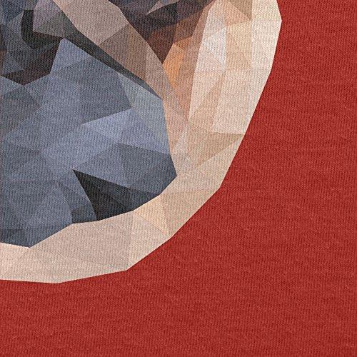 TEXLAB - Poly Pug Face - Herren Langarm T-Shirt Rot