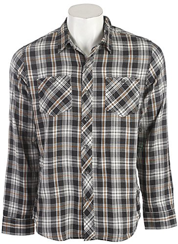 Reef Dawn Plaid Shirt Black Mens (Woven-sport-shirt Plaid)