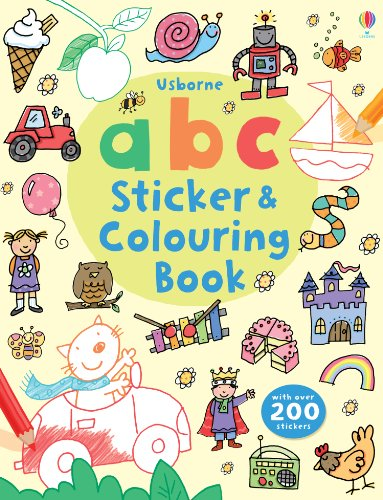 ABC Sticker and Colouring Book (Usborne Colouring Book + (Abc Sticker Book)