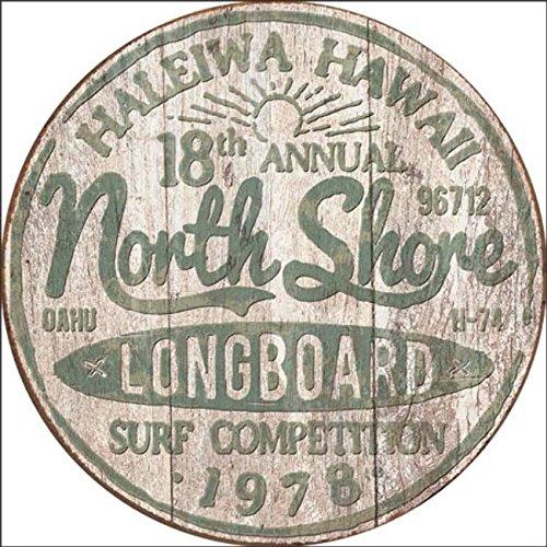 North Shore Surf Blechschild Flach Neu 30x30cm S4539 (Surf Sign Wall)