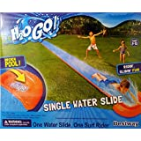 H2O GO! 18ft. Single Water Slide with Drench Pool and Surf Rider!