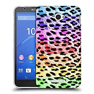 Snoogg Colorful Chetah Designer Protective Back Case Cover For SONY XPERIA E4