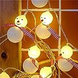 ELINKUME 20er LED Zwei Modi Schneemann Lichterkette, Deko für Außen Innen, Weihnachten, Hochzeit, Party, Fest(2M Warmweiß )