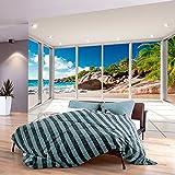 murando - Fotomurali - 250x175 cm - Carta da parati sulla fliselina - Carta da parati in TNT - Quadri murali XXL - Fotomurale Paesaggio Naturaleza Spiaggia Mare Palma c-C-0068-a-a