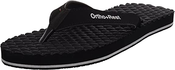 Ortho + Rest Black Slippers for Women