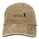 HHMdiy Funny Baseball Cap Berlin Unisex Adjustable Cowboy Dad Caps Trucker Hat Black