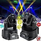 Ridgeyard 2x 15W Rot Grün blau DMX LED Moving Head Bühnenbeleuchtung Licht Stage DJ Disco