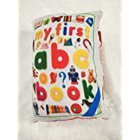 Divine Homes One Piece Kids/Toddler Learning Pillow Cum Book with English and Hindi Alphabets, Numbers, Animals Names…