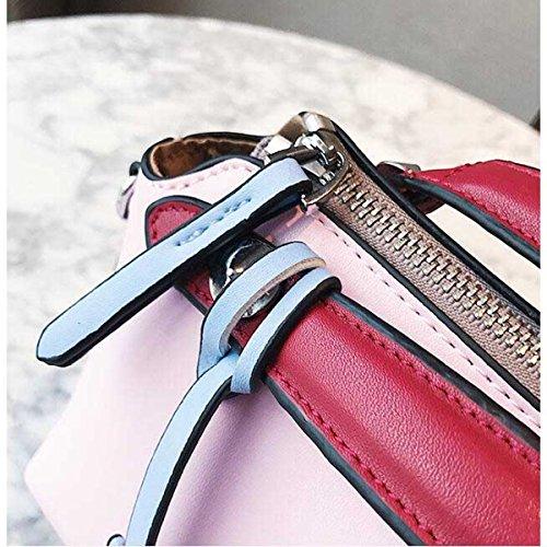 Damenmode Persönlichkeit Umhängetasche Handtasche Messenger Bag Pink
