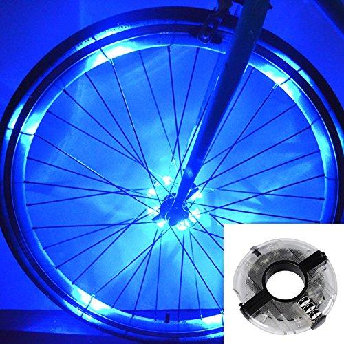 (Fahrrad Rad Licht Zuoao Fahrrad Licht 8 LED Speichenlicht Wasserdichte Fahrradlichter Batteriebetriebene 3 Licht-Modi für MTB Rad Gummireifen)