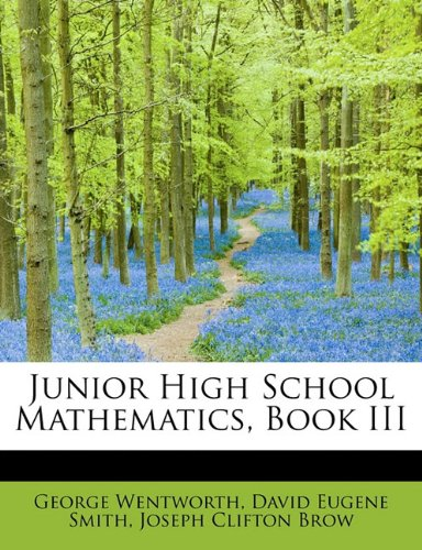 Junior High School Mathematics, Book III