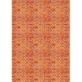 5 x A4 Brick Wall Design Backing Papers