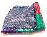 Agas Own Quilt AGAS Baumwolle BUNT/INDISCH Tagesdecke Bettwäsche Doppelbett Sommerdecke Steppdecke 160 x 220 cm VIELE VARIANTEN (Bunt 2)