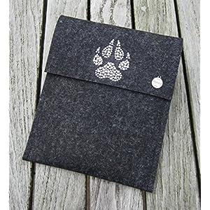 zigbaxx Tablet Hülle TIGER Case Sleeve Filz u.a. für iPad Air Air 2, iPad 9.7, iPad Pro 9,7, iPad Pro 10,5 / iPad mini 2/3/4-100% Wollfilz pink schwarz beige grau braun Geschenk Weihnachten