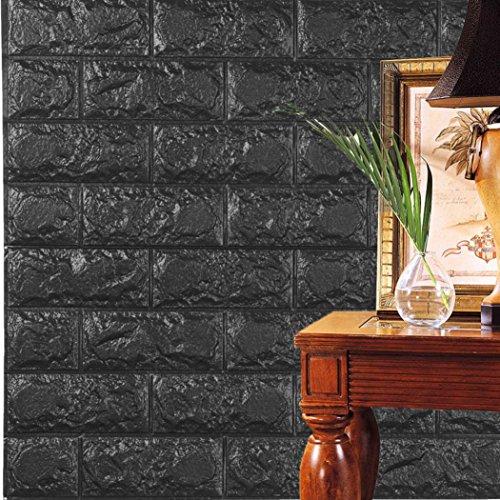 3D Wall Stickers, WYXlink PE Schaumstoff 3D Tapete DIY Wall Stickers Wand Dekor Relief Steine (c)