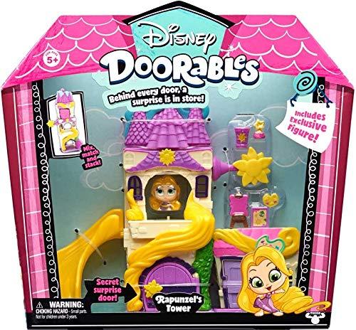 Disney Doorable Themenspielset - RAPUNZEL'S Tower (Tangled) - Hinter jeder Tür ist eine Überraschung im Laden (Rapunzel Party Decor)