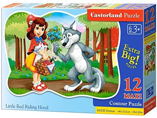 CASTORLAND B-120185 Premium Maxi - Campana de equitación (12 Piezas), Color Rojo