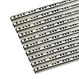 FURNICA Lot de 10 (5 paires) Glissières pour tiroirs à roulement à billes, H17mm (Longueur 246mm)