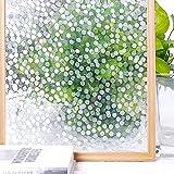 Homein Pellicola Adesive Colorate Per Finestre 3D a POIS 44.5*200cm Effetto Arcobaleno Privacy e Decorativa Autoadesivo per Vetri Anti-96% UV Riutilizzabile per Bagno Ufficio Sala Riunione
