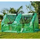 Homcom - Invernadero caseta de tubo acero y plastico jardin terraza cultivo de plantas