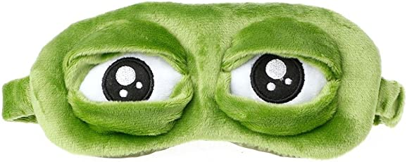Veena Zrlowr Travel 3D Frog Eye Mask Sleep Soft Padded Shade Cover Rest Relax Blindfold Fun