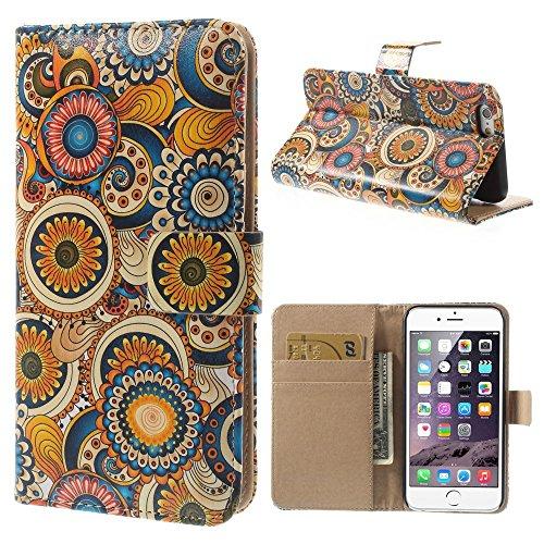 iPhone 6 6S Hülle Klapphülle von NICA, Slim Flip-Case Kunst-Leder Vegan, Phone Etui Schutzhülle, Dünne Vorne Hinten Handytasche Wallet Bumper für Apple iPhone 6S 6 - Paisley Edition