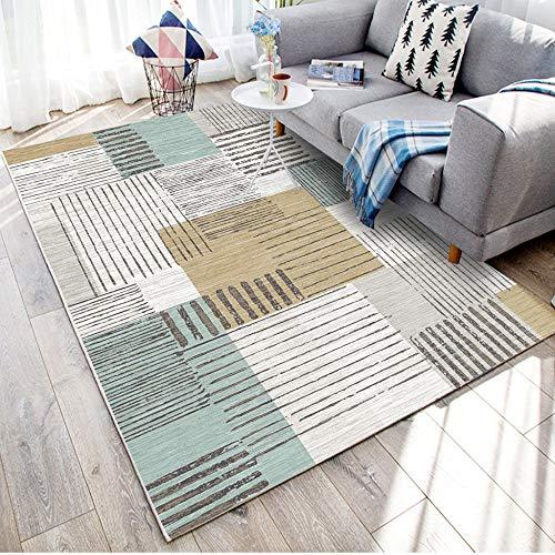 CanaDitan Stilvoller bedruckter Teppich, geometrisches Muster, abstraktes Muster, geeignet für Wohnzimmer, Esszimmer, Schlafzimmer oder Kinderzimmer usw. No.09 160 * 200cm