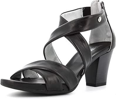 Sandalo da Donna NeroGiardini in Pelle Nero o Sabbia E012220D. Scarpa dal Design Raffinato. Collezione Primavera Estate 2020