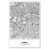 Zulumaps Poster 20x30cm Stadtplan London - Hochwertiger Kunstdruck