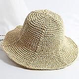 Honey Verano  Sombrero De Paja De Las Mujeres Costa Pasar Las Vacaciones Sombrero para El Sol Sombra  Protector Solar (Color : Beige)