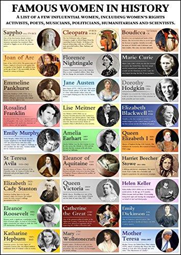 berühmten Frauen in Geschichte Poster A2 - 42 x 59.4 - Die Welt Die Verändert Fotos,