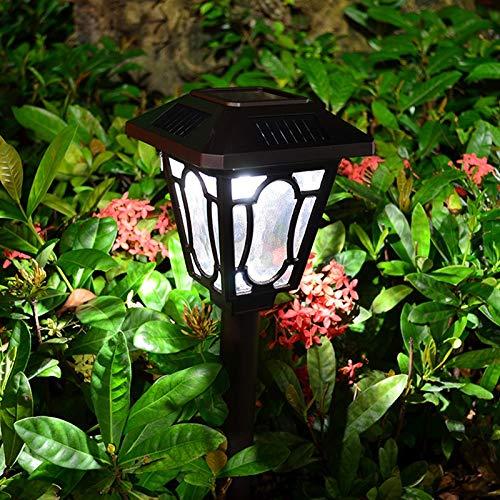 Pro-Night LED Solar Flickering Light Flame Torch Lampe wasserdichte dekorative Lampen for Outdoor-Pfad Garten Rasen Energiesparlampe (Color : Warm White) -