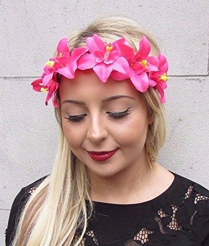 Starcrossed-Boutique-rosa-orqudea-guirnalda-de-flores-diadema-de-pelo-corona-de-flores-hawaianas-Tropical-3506