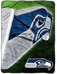 "Seattle Seahawks NFL Micro Raschel Blanket (Bevel Series) (80x60"")"""