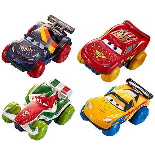 Image of Disney Pixar Cars Hydro Wheels 4 Gift Pack - Lightning McQueen, Francesco Bernoulli, Jeff Gorvette & Max Schnell