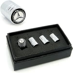 Guoyuanzed Va008 Chrom Auto Styling Zubehör Felgenventilkappen Für Mercedes Benz W211 W221 W220 W163 W164 W203 C E Slk Glk Cls M Gl Auto