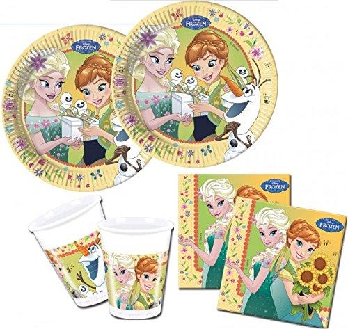 Preisvergleich Produktbild 52 Teile Eiskönigin Party Fieber Party Set für 16 Kinder