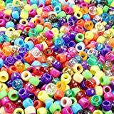 Goodlucky365 1000 Stück Perlen bunte Bastelperlen Craft Perlen gemischte Perlen und klar