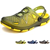 beister Mens Clogs Non Slip Water Shoes with Adjustable Strap, Lightweight Slip on Mules Garden Kitchen Outdoor Beach Yard Po