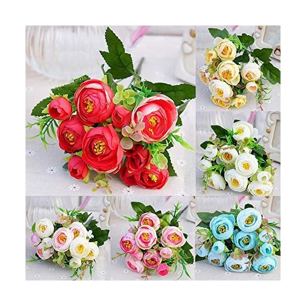 D-SYANA8 Narutosak – 1 Pieza de Flores Artificiales de Camelia para decoración de Bodas, hogar, Oficina, Hotel…